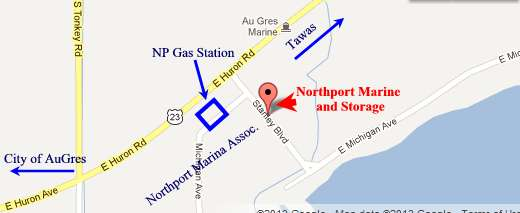 Map to Northport